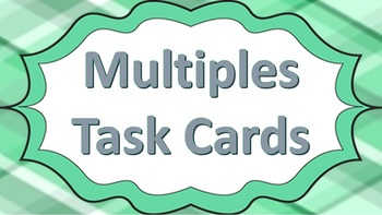 Multiples Task Cards Green Theme