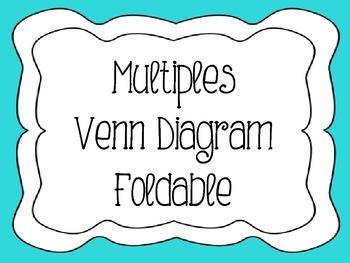 Multiples Venn Diagram Foldable