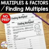 Finding Multiples Worksheets - 4.OA.4