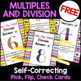 Multiples and Division Free Clip Cards