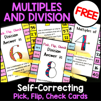 Free Math: Multiples and Division Free Clip Cards