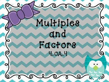 Multiples and Factors Scavenger Hunt