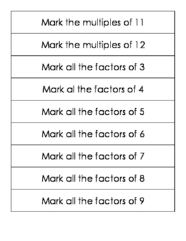 Multiples and Factors Dab