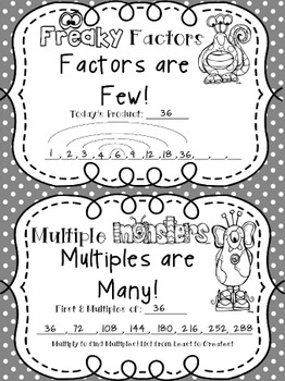 Multiples and Factors, Daily Reinforcement