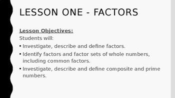 Multiples and Factors Unit PowerPoint