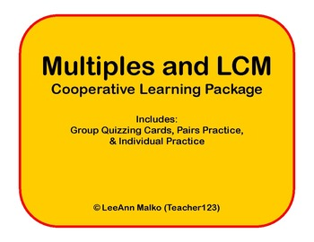 Multiples and LCM Cooperative Learning Package