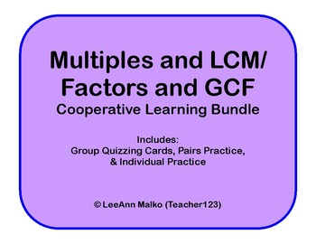 Multiples and LCM / Factors and GCF Bundle Cooperative Learning Package