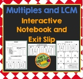 Multiples and Least Common Multiple Interactive Notebook a
