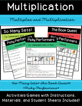 Multiples and Multiplication Station Activities