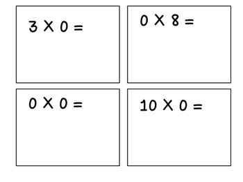 Multiples of 0-Multiplication Flashcards