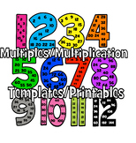1-12 Multiples Posters for Multiplication Learning