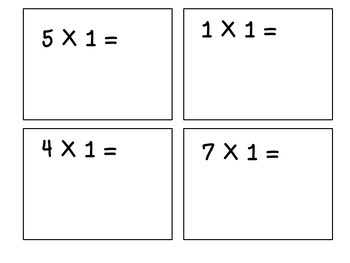 Multiples of 1-Multiplication Flashcards