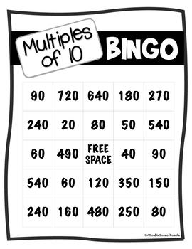 Multiples of 10 BINGO