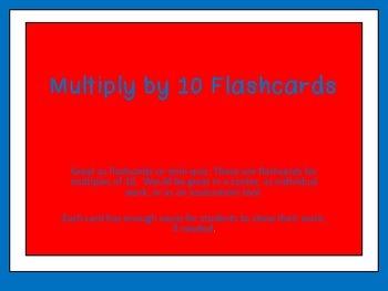 Multiples of 10-Multipliation Flashcards