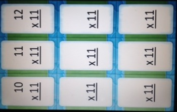 Multiples of 11 FLASH CARDS w/o answers