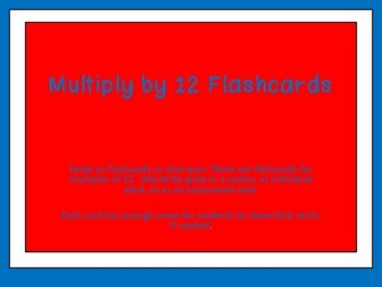 Multiples of 12-Multiplication Flashcards