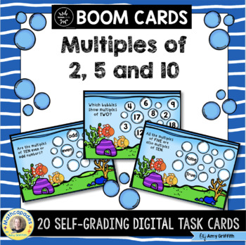 Multiples of 2, 5 and 10 with BOOM Cards