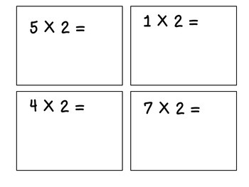 Multiples of 2 Flaschcards
