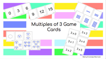 Multiples of 3 Game Cards