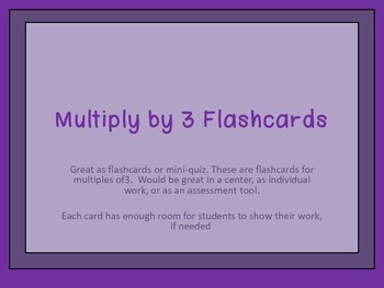 Multiples of 3-Multiplication Flashcards
