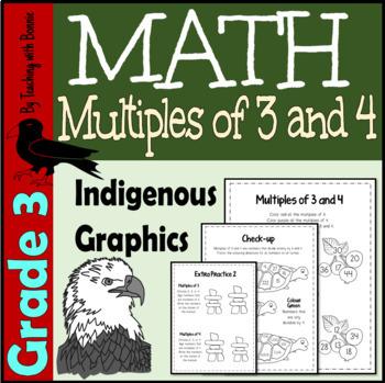 Multiples of 3 & 4  Divisibility of 3 &4    Aboriginal Graphic Focus