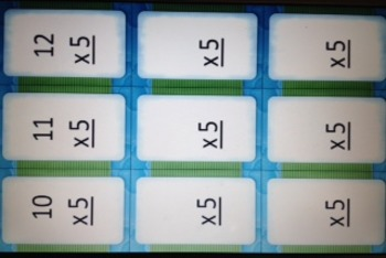 Multiples of 5 FLASH CARDS w/o answers