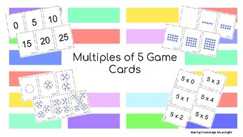 Multiples of 5 Game Cards