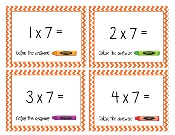 Multiples of 7 Cards and Worksheet