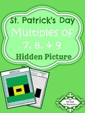 Multiples of 7,8, & 9: Hidden St. Patrick's Day Picture Activity