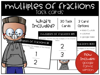 Multiples of Fractions Task Cards