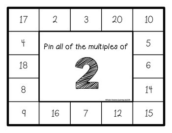 Multiples of Numbers (2-12) - Self-Checking Math Centers