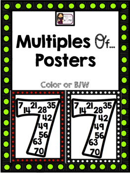 Multiples of... Posters (1-11) - Color or Ink Friendly!