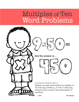 Multiples of Ten Math Center