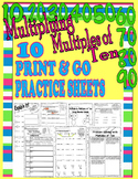 Multiplying by Multiples of Ten  Multiplication  Printables