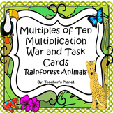 Multiples of Ten Games - Multiplication War and Task Cards