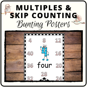 Multiples or skip counting bunting posters