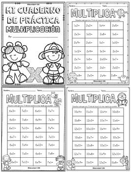 Multiplicación - Cuaderno de Práctica tablas de multiplicar