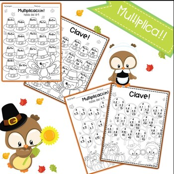 Multiplicacion - Multiplication Spanish (Accion de Gracias - Thanksgiving)