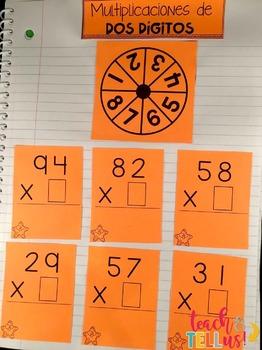 Multiplicacion - Multiplication Spanish