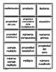 Multiplicacion - Tarjetas De Intercambio - Spanish Math Vocabulary Games