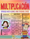 Multiplicacion - Tarjetas De Intercambio - Spanish Math Vocabulary Games