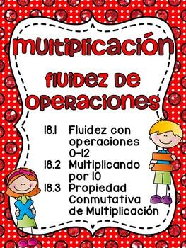 Multiplicación: fluidez, propiedad conmutativa y multiplicando por diez