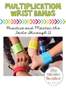 Multiplication Wrist Bands