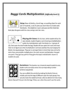 Meaningful Multiplication 3rd/4th Grade:Games, Activities and Centers