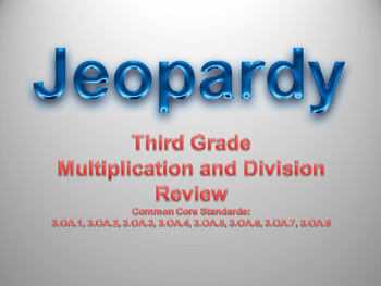 Multiplicaiton and Division Jeopardy