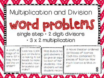 Multiplication And Division Single Step Word Problems
