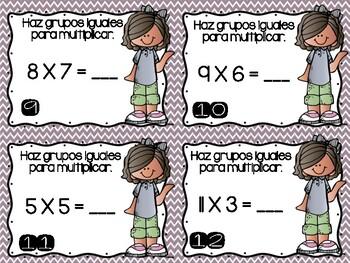 Multiplicando Haciendo Grupos Iguales/ Multiplying by Making Equal Groups