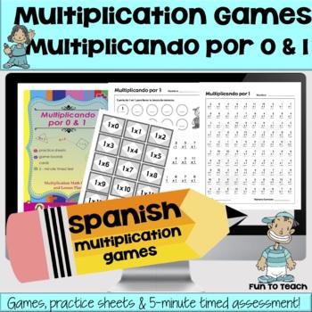Multiplicando Por 0/1 - Spanish Multiplication Math Games/Lesson Plans Freebie