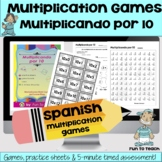 Multiplicando Por 10 - Spanish Multiplication Math Games/L
