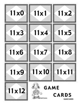 Multiplicando Por 11 - Spanish Multiplication Math Games/Lesson Plans